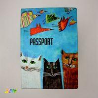Обложка для паспорта КОТЫ